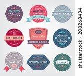 set of vector vintage labels ... | Shutterstock .eps vector #208268434