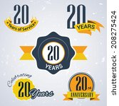 20 years of service  20 years   ... | Shutterstock .eps vector #208275424