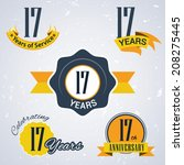 17 years of service  17 years   ... | Shutterstock .eps vector #208275445