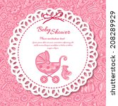 baby shower  greeting card for... | Shutterstock . vector #208289929
