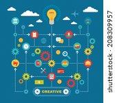 business creative idea... | Shutterstock .eps vector #208309957