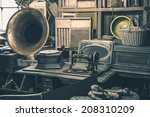 antique store inventory. old... | Shutterstock . vector #208310209