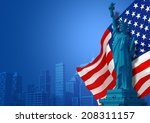 Blue American Background...