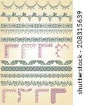set of borders  decorative... | Shutterstock .eps vector #208315639