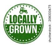 locally grown grunge rubber... | Shutterstock .eps vector #208333675