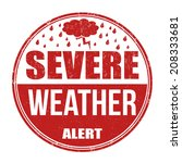severe weather alert grunge... | Shutterstock .eps vector #208333681
