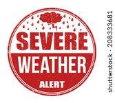 severe weather alert grunge...   Shutterstock .eps vector #208333681