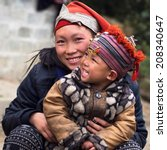 happy hmong woman and child... | Shutterstock . vector #208340647