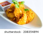 fried shrimp won ton with sweet ... | Shutterstock . vector #208354894