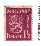 Old stamp from Finland - stock photo
