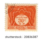 Old stamp from French West Africa - stock photo