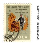 Old stamp from Angola - stock photo