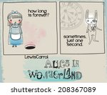 alice in wonderland quotes  ... | Shutterstock .eps vector #208367089