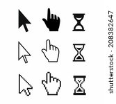 pixel cursors icons  mouse hand ... | Shutterstock . vector #208382647