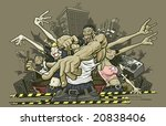 vector illustration of a crowd...