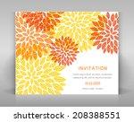 white invitation with orange... | Shutterstock .eps vector #208388551