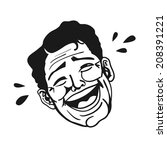 portrait of retro man laughing... | Shutterstock . vector #208391221