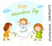 vector illustration of kids... | Shutterstock .eps vector #208396975