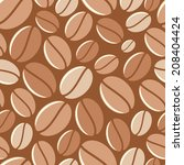 coffee background   vector... | Shutterstock .eps vector #208404424
