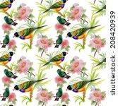 watercolor seamless pattern... | Shutterstock . vector #208420939