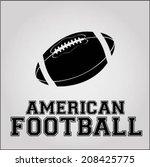 american football | Shutterstock .eps vector #208425775