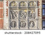 historic building of amsterdam... | Shutterstock . vector #208427095