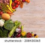 healthy food background  ... | Shutterstock . vector #208430365