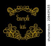 vector calligraphic design... | Shutterstock .eps vector #208439155