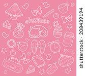 sweet home  set of vector... | Shutterstock .eps vector #208439194