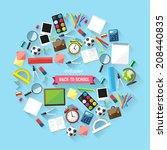 back to school concept   school ... | Shutterstock .eps vector #208440835