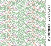 seamless flower floral pattern   Shutterstock .eps vector #208471987