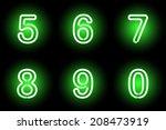 green vector digits. vector... | Shutterstock .eps vector #208473919