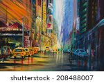Water Color Painted New York...