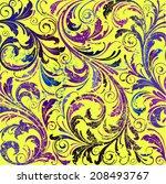 floral seamless vector...   Shutterstock .eps vector #208493767