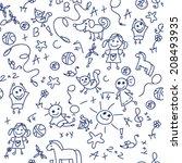 children's entertainment.... | Shutterstock .eps vector #208493935