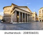 Pantheon In Rome  Italy On A...