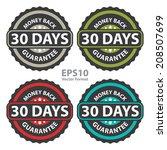 30 days money back guarantee on ... | Shutterstock .eps vector #208507699