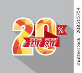 discount 20 percent off vector... | Shutterstock .eps vector #208515754