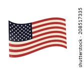 rustic american flag | Shutterstock .eps vector #208517335