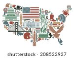 traditional symbols in the form ... | Shutterstock .eps vector #208522927