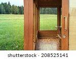 detail of a  wooden summer... | Shutterstock . vector #208525141