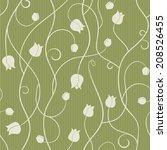 tulip   seamless pattern.... | Shutterstock . vector #208526455