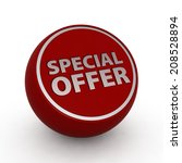 special offer circular icon on... | Shutterstock . vector #208528894