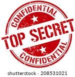 top secret stamp | Shutterstock .eps vector #208531021