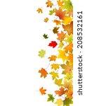 maple autumn falling leaves ...   Shutterstock .eps vector #208532161