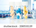 colorful medical capsules in... | Shutterstock . vector #208533139