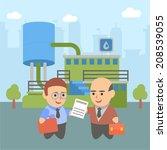business businessman client...   Shutterstock .eps vector #208539055