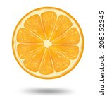 slice of fresh orange isolated... | Shutterstock .eps vector #208552345