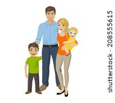 vector illustration of a happy... | Shutterstock .eps vector #208555615