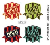 high security vintage shield ... | Shutterstock .eps vector #208565539